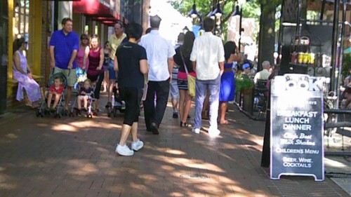 Virginia Gardner, Charlottesville Downtown